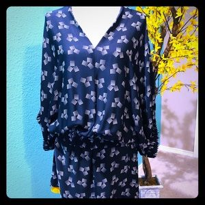 DVF Meiko Dot Dance Print oversize dress 8